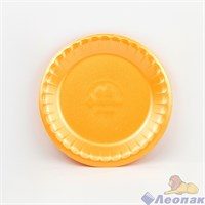 Тарелка банкетная вспененная D 225 оранжевая (100шт/1200 шт)