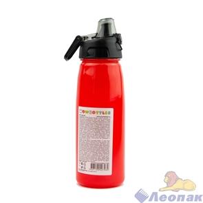 КК0148 Бутылка для воды и других напитков с автоматической крышкой, 750 мл, цвета в ассортименте.