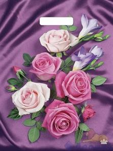 П-выр.ручка 31х40-60мкм  Атласные розы  ламинат (500) ТИКО