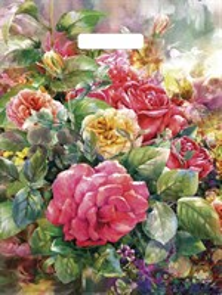 П-выр.ручка 38х45-60мкм  Розы на холсте  ламинат (500) ТИКО