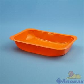 Лоток под запайку УПЛ-18Ф  187*137*32/500мл. РР оранжевый (450шт)
