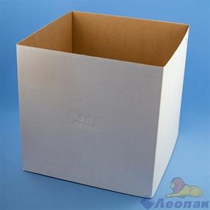 Коробка для тортов белая ЕВ 300   300*300*300 до 5кг (10шт/кор.)