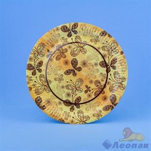 Тарелка картонная d=230мм  Бабочки  (100шт/1уп)