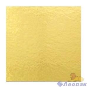 Подложка усиленная квадратная GWD 260*260 (3,2) золото/жемчуг (10шт/1уп.)