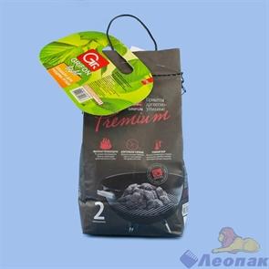 Древесноугольные брикеты GRIFON Premium ECO 2кг в мешке (1/8) 650-041/1