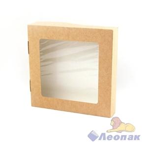 Упаковка ECO TABOX 1500 (200шт/1кор)  контейнер на вынос c окном 200*200  h 40
