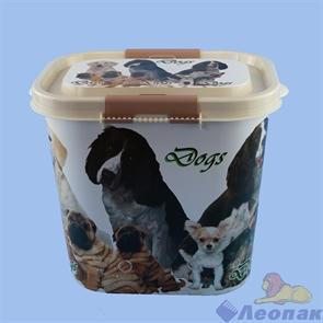 Контейнер  Dogs  для корма 10л (овальный) (8шт)