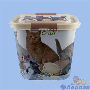 Контейнер  Cats  для корма 10л (овальный) (8шт)