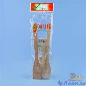 Лопатки для приготовления пищи бамбук 3шт в пакете (28см +15см), 10147