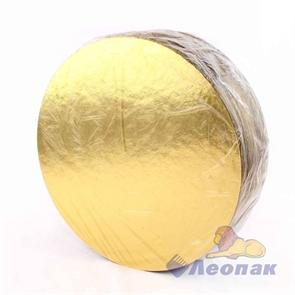 Подложка усиленная GWD 240 (1,5) d-240мм (1,5мм) золото/жемчуг (50шт/1уп.)