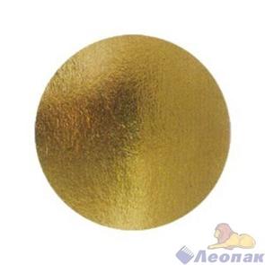 Подложка картонная круг 320мм (толщина 3,2мм) золото/жемчуг (10шт/1уп)