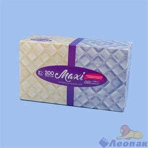 Салфетки бумажные PLUSHE MAXI  2-хсл., V-сл., АССОРТИ в коробке (200лист./1уп/15уп)