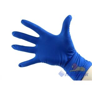 Перчатки латексные Gloves L синие повышенной прочности (50шт/10уп)