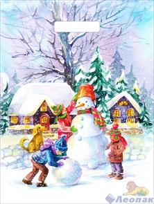 П-выр.ручка 31х40-60мкм  Новый снеговик  ламинированный  (500) ТИКО