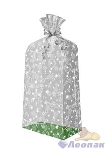 Пакет подарочный Праздник 500х220(140)х30 - жесткое дно, ВОРР (120шт) Тико