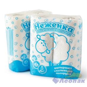 Полотенца бумажные  НЕЖЕНКА  белые 2-хслойные (2шт/12кмп) Б0111822-22