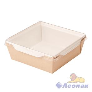 Упаковка ECO OpSalad 1200  (150шт/1кор) салатник с прозр.крышкой 165*165  h65