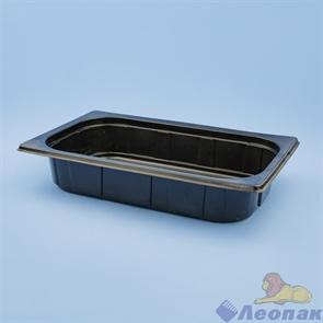 Контейнер б/крышки Gastro-Box 1650мл прямоуг. под запайку (265*161*50 РР) ЧЕРНЫЙ (300шт) о +120С