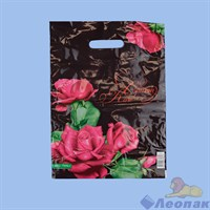 П-выр.ручка 30х40-60мкм  Малиновые розы   (25/1000) Нео-Пак