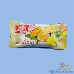 Салфетка влажная   Lili  с ароматом цитруса (15шт)
