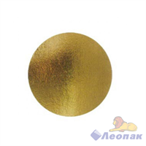 Подложка картонная круг 260 (0,8мм) мм золото/серебро (100шт)  GSD 260 (0.8)