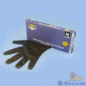 Перчатки одноразовые эластомер ЧЕРНЫЕ  (100шт/10уп)  М   AVIORA