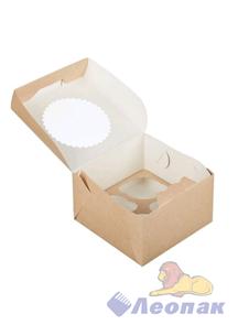 Упаковка ECO MUF 4(150шт./1кор.)  160*160  h100 д/маффинов с окном