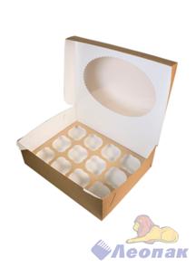 Упаковка ECO MUF 12 (100шт/1кор)  д/маффинов 330*250  h100/Р