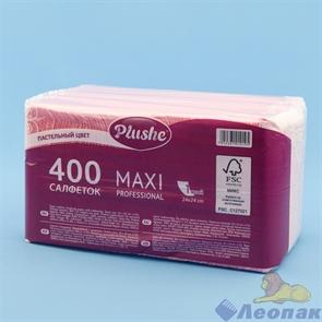 Салфетка розовая/пастель Plushe Maxi Professiona Compactl (400л/8уп)
