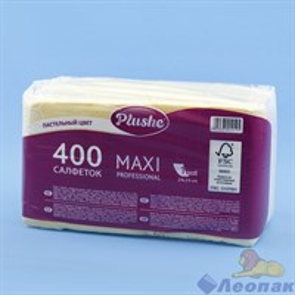 Салфетка желтая/пастель Plushe Maxi Professional (400л/8уп)