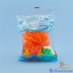 Мочалка для тела с игрушкой детская BioCos (24)