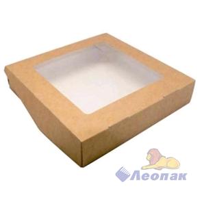 Упаковка ECO TABOX PRO 1500 (125шт/1кор)  контейнер на вынос c окном 200*200  h 40