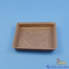 Формы бумажные пай-пирог 162.5*162.5*18мм квадрат, коричневые (90шт/6уп /8016218В