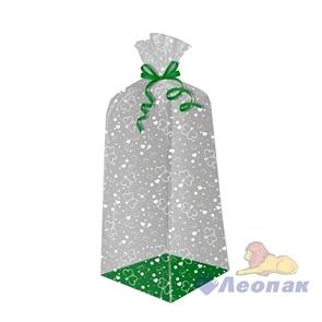 Пакет подарочный Нежные бабочки 500х140(140)х30 - жесткое дно, ВОРР (120шт) Тико