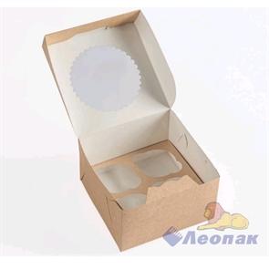 Упаковка ECO MUF 4 (150шт/1кор)  д/маффинов 160*160  h100