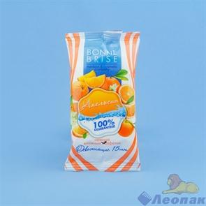 Салфетка влажная   Bonnе Bris  cosmetic Апельсин А1 (15шт) (1/55уп)