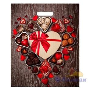 П-выр.ручка 38х45-60мкм  Сладкие сердечки  ламинат (50/500) ТИКО