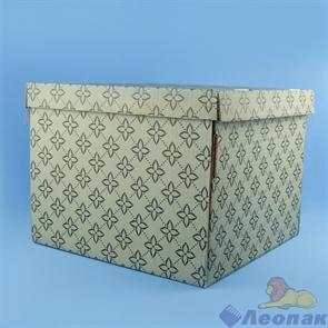 """Коробка для хранения крышка+дно """"Триумф"""" бурый/бурый  320х320х250, Т23Е"""