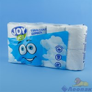 Туалетная бумага JOYeco 2сл., белая (8шт/6уп)