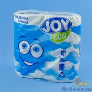 Туалетная бумага JOYeco 2сл.,  белая (4шт/12уп)