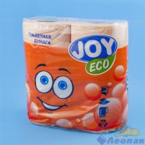 Туалетная бумага JOYeco 2сл.,  персиковая (4шт/12уп)