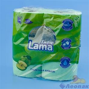 Туалетная бумага Snow Lama 2сл., салатовая (4шт/12уп)