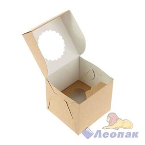 Упаковка ECO MUF 1 (250шт/1кор)  д/маффинов 100*100 h100