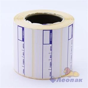 Весовая лента 58*40 -печать с/п ЕСО А (72шт.)