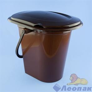 Ведро-туалет 17л (коричневый) (уп.10)