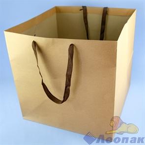 L65 Пакет бумажный Крафт 40*40*40 (12шт/6уп)