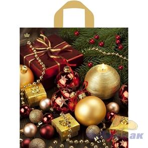 П-петл.ручка 42х38-37мкм  Подарочный пакет  ПНД (300) ТИКО