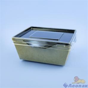 Упаковка ECO OpSalad 350 Black Edition(350шт./1кор.) конт. на вынос c окном 100*121  h 55