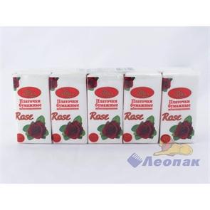 Платочки бумажные  AMRA  с ароматом розы (10шт/1уп/24уп)