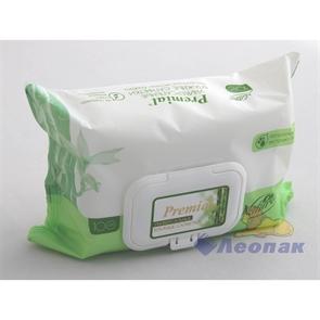 Салфетка влажная  Premial Natural  с экстратом бамбука (100шт/1уп/6уп)